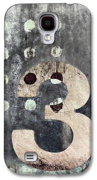 Dots Digital Art Galaxy S4 Cases - Three Painting Galaxy S4 Case by Carol Leigh