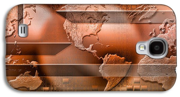 Cyberspace Galaxy S4 Cases - Three Parts Of The Earth Surrounded Galaxy S4 Case by Panoramic Images