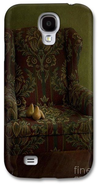 Old Chair Galaxy S4 Cases - Three Pears Sitting In A Wing Chair Galaxy S4 Case by Priska Wettstein