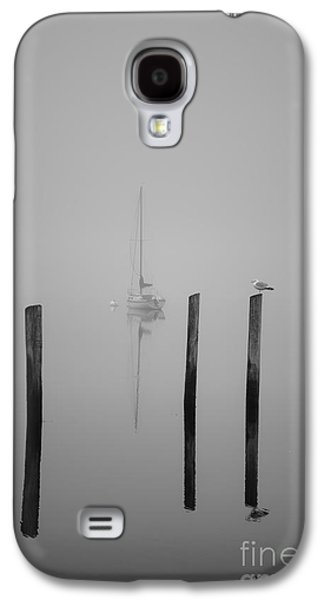 Sailboat Images Galaxy S4 Cases - Three Pilings and Sailboat Galaxy S4 Case by David Gordon