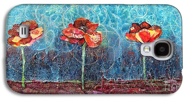Copper Galaxy S4 Cases - Three Poppies Galaxy S4 Case by Shadia Zayed