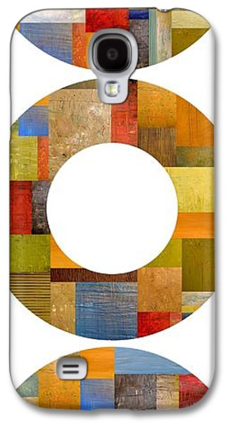 Colorful Abstract Galaxy S4 Cases - Three Rings Galaxy S4 Case by Michelle Calkins
