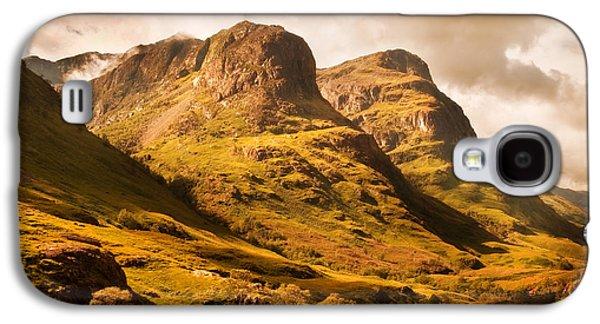 Best Sellers Photographs Galaxy S4 Cases - Three Sisters. Glencoe. Scotland Galaxy S4 Case by Jenny Rainbow