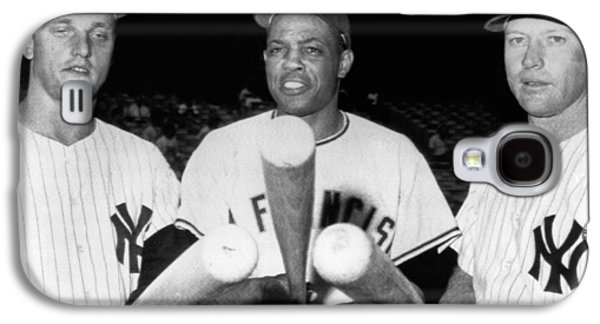 Three Slugging Outfielders Galaxy S4 Case by Underwood Archives