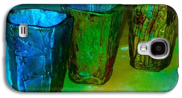 Copper Ceramics Galaxy S4 Cases - Three Smoke Fired Vases Galaxy S4 Case by Joan-Violet Stretch