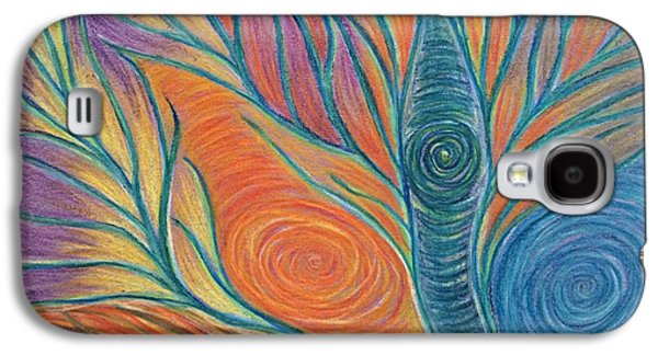 Spiritual Pastels Galaxy S4 Cases - Energies Arising Galaxy S4 Case by Jamie Rogers
