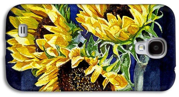 Three Sunny Flowers Galaxy S4 Case by Irina Sztukowski