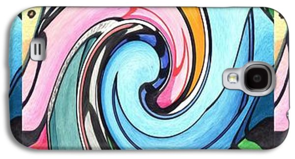 Abstract Movement Galaxy S4 Cases - Three Swirls Galaxy S4 Case by Helena Tiainen