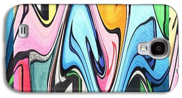 Abstract Movement Galaxy S4 Cases - Three Swirls Rippled Galaxy S4 Case by Helena Tiainen