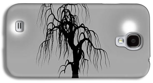 Dreamscape Digital Art Galaxy S4 Cases - Three Trees Galaxy S4 Case by Bob Orsillo