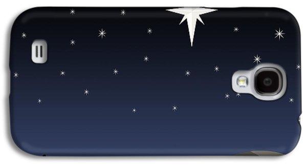 Star Of Bethlehem Galaxy S4 Cases - Three Wisemen Following Star Galaxy S4 Case by Daniel Sicolo