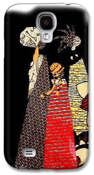 People Tapestries - Textiles Galaxy S4 Cases - Three Women in the Dark Galaxy S4 Case by Ruth Yvonne Ash
