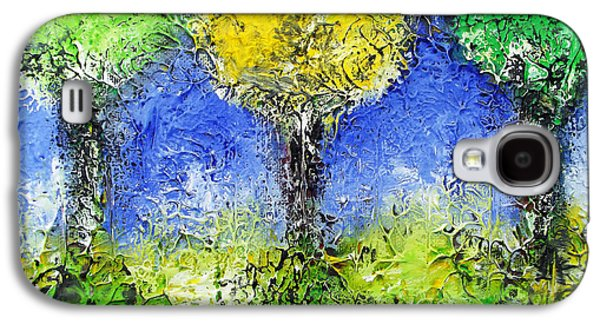 Park Scene Drawings Galaxy S4 Cases - Thriving Trees Galaxy S4 Case by Melinda Firestone-White