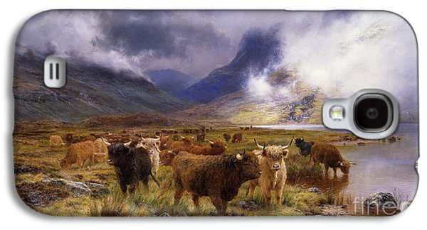 Countryside Paintings Galaxy S4 Cases - Through Glencoe by  Way to the Tay Galaxy S4 Case by Louis Bosworth Hurt
