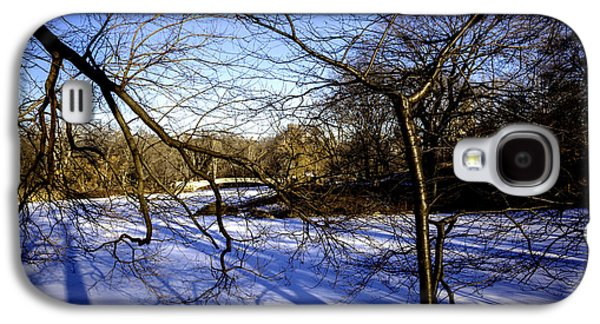 Snowy Day Galaxy S4 Cases - Through The Branches 4 - Central Park - NYC Galaxy S4 Case by Madeline Ellis