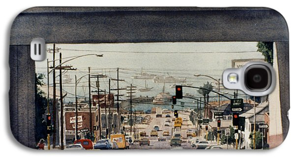 Harbor Paintings Galaxy S4 Cases - Through the Bridge on Hawthorn Galaxy S4 Case by Mary Helmreich