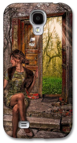 Concept Photographs Galaxy S4 Cases - Through The Forest Door Galaxy S4 Case by Erik Brede