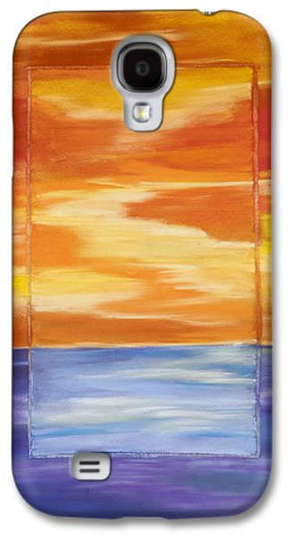 Sunset Abstract Pastels Galaxy S4 Cases - Through the Glass Galaxy S4 Case by Dana Strotheide