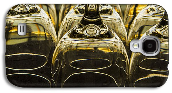 Wine Service Galaxy S4 Cases - Through the Glasses Galaxy S4 Case by Jean Noren