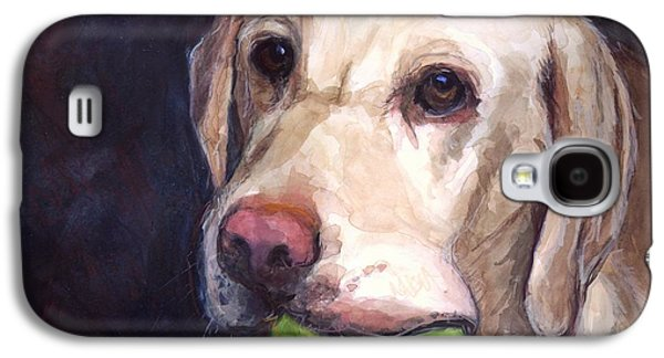 Dog Paintings Galaxy S4 Cases - Throw the Ball Galaxy S4 Case by Molly Poole