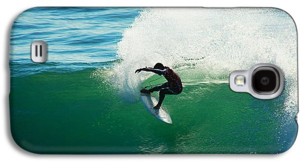 Steamer Lane Galaxy S4 Cases - Throwing Light Galaxy S4 Case by Paul Topp