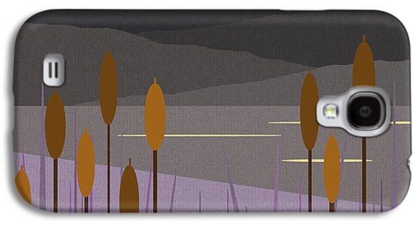 Color Block Galaxy S4 Cases - Thunder Moon Galaxy S4 Case by Val Arie