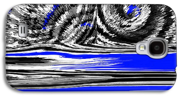 Storm Prints Mixed Media Galaxy S4 Cases - Thunder Storm Galaxy S4 Case by Sir Josef  Putsche Social Critic