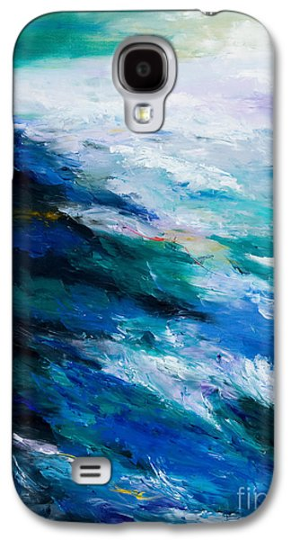 Maine Paintings Galaxy S4 Cases - Thunder Tide Galaxy S4 Case by Larry Martin