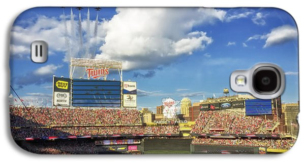 Jet Star Galaxy S4 Cases - Thunderbird Flyover at Target Field for All Star Game Galaxy S4 Case by Mountain Dreams