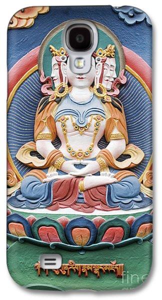 Tibetan Buddhism Galaxy S4 Cases - Tibetan buddhist temple deity sculpture Galaxy S4 Case by Tim Gainey