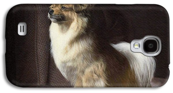 Dogs Paintings Galaxy S4 Cases - Tibetan Spaniel Painting Galaxy S4 Case by Rachel Stribbling