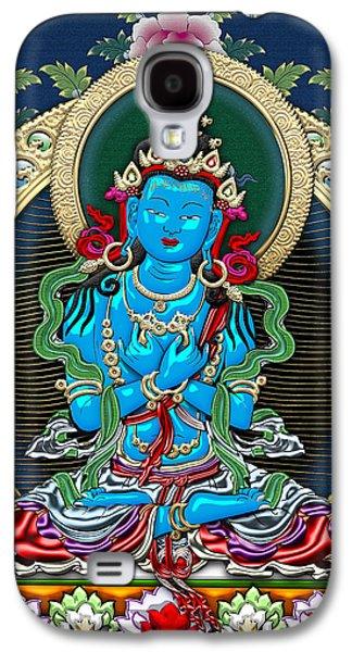 Tibetan Buddhism Galaxy S4 Cases - Tibetan Thangka  - Vajradhara -  Dharmakaya Buddha Galaxy S4 Case by Serge Averbukh