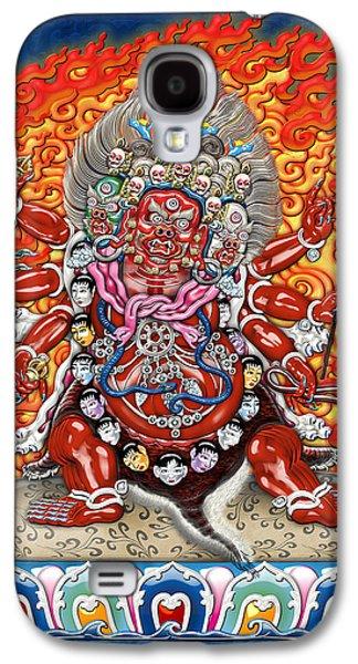 Tibetan Buddhism Galaxy S4 Cases - Tibetan Thangka  - Wrathful Deity Hayagriva Galaxy S4 Case by Serge Averbukh