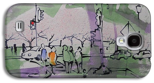 Cherry Blossoms Drawings Galaxy S4 Cases - Tidal Basin Cherry Walk Galaxy S4 Case by Larry Lerew