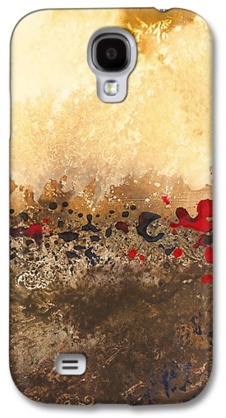Abstract Digital Paintings Galaxy S4 Cases - Tidal Sunrise Panel 1 Galaxy S4 Case by Craig Tinder