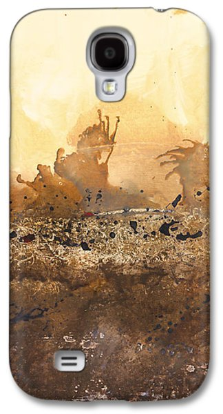Abstract Digital Paintings Galaxy S4 Cases - Tidal Sunrise Panel 3 Galaxy S4 Case by Craig Tinder