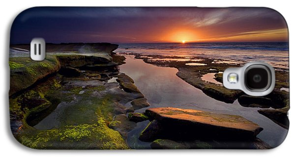 Beach Landscape Galaxy S4 Cases - Tidepool Sunsets Galaxy S4 Case by Peter Tellone