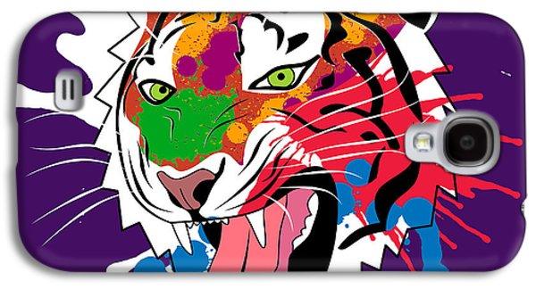 Animation Galaxy S4 Cases - Tiger 11 Galaxy S4 Case by Mark Ashkenazi