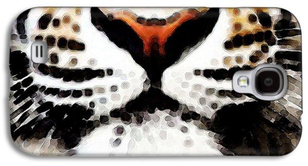 Tiger Art - Burning Bright Galaxy S4 Case by Sharon Cummings