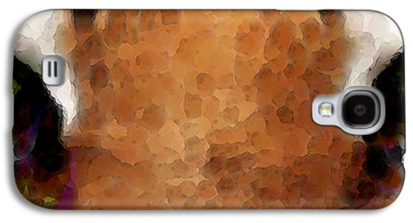 Universities Digital Art Galaxy S4 Cases - Tiger Art - Hungry Eyes Galaxy S4 Case by Sharon Cummings