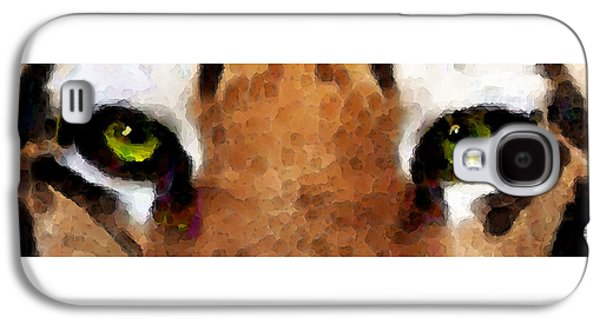 Tiger Art - Hungry Eyes Galaxy S4 Case by Sharon Cummings