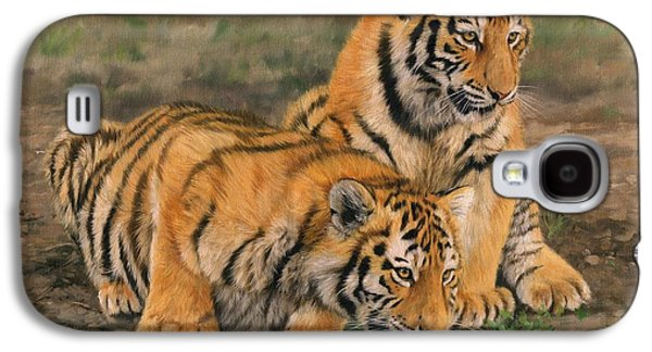 Tiger Galaxy S4 Cases - Tiger Cubs Galaxy S4 Case by David Stribbling