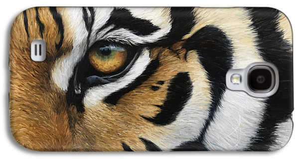 Tiger Galaxy S4 Cases - Tiger Eye Galaxy S4 Case by Lucie Bilodeau