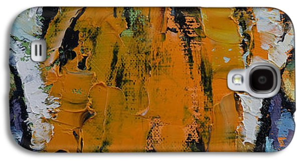 Colorful Abstract Galaxy S4 Cases - Tiger Eyes Galaxy S4 Case by Michael Creese