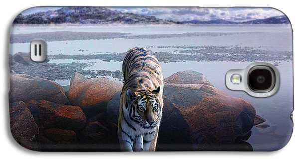 Tiger In A Lake Galaxy S4 Case by Pati Photography