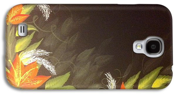 The Tiger Paintings Galaxy S4 Cases - Tiger Lilies Galaxy S4 Case by Karen Pasquariello