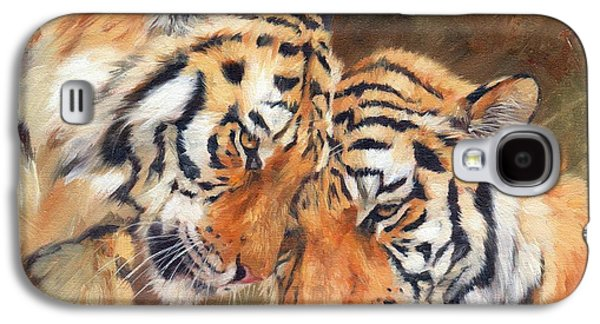 Tiger Galaxy S4 Cases - Tiger Love Galaxy S4 Case by David Stribbling