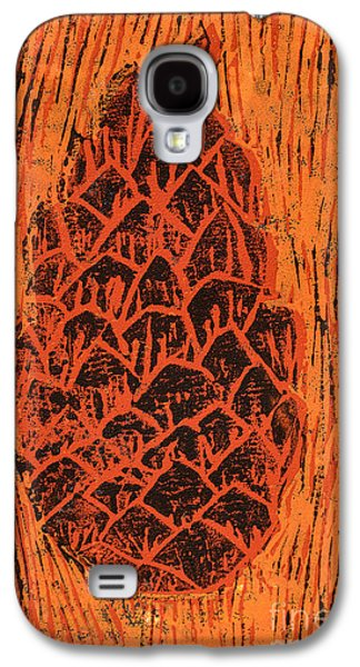 Abstract Nature Mixed Media Galaxy S4 Cases - Tiger Pine Cone Galaxy S4 Case by Amanda And Christopher Elwell