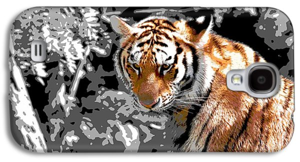 The Tiger Hunt Galaxy S4 Cases - Tiger Poster Galaxy S4 Case by Dan Sproul