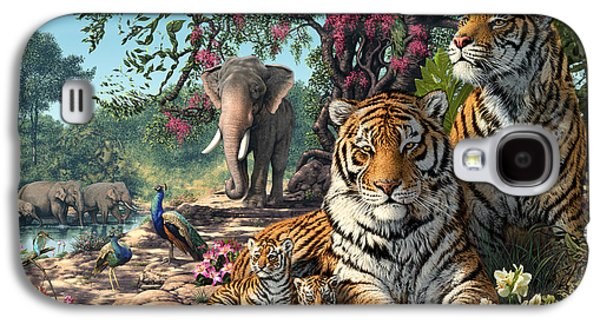 Digital Galaxy S4 Cases - Tiger Sanctuary Galaxy S4 Case by Steve Read